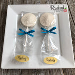12 SAND DOLLAR Chocolate Lollipops Candy Party Favors Nautical Beach Theme