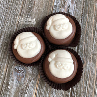 12 SANTA CLAUS Milk Chocolate Covered Oreo Cookie Candy Christmas Holiday Party Favors