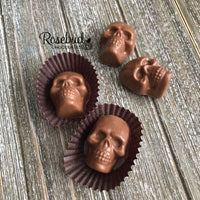 12 SKULLS Chocolate Candy Halloween Party Favors