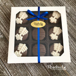 SPINE - 9 Piece Chocolate Covered Oreo Cookies - White Gift Box