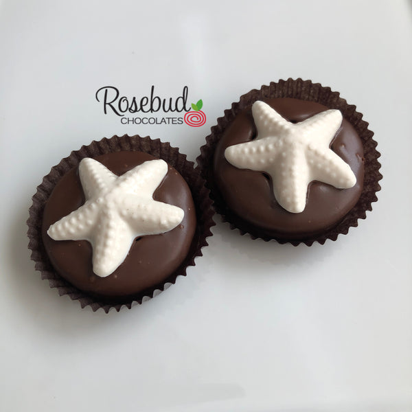 12 STARFISH Chocolate Oreo Cookie Nautical Beach Favors