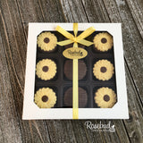 SUNFLOWERS - Chocolate Covered Oreo Cookies - 9 Piece White Gift Box Flowers