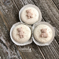 12 TEDDY BEAR Chocolate Covered Oreo Cookie Birthday Party Favors Baby Shower