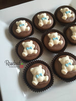 12 TEDDY BEAR Chocolate Covered Oreo Cookie Candy Birthday Party Baby Shower Favors