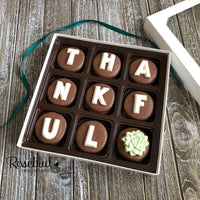 """THANKFUL"" - 9 Piece Chocolate Covered Oreo Cookies SUCCULENT - White Gift Box"