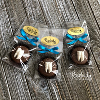 12 TOOTH Milk Chocolate Covered Oreo Cookie Candy Party Favors