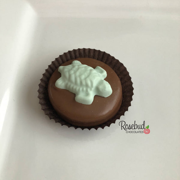 12 TURTLE Chocolate Covered Oreo Cookie Candy Party Favors
