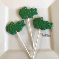 10 ALLIGATOR CROCODILE Chocolate Lollipops Candy Animal Party Favors