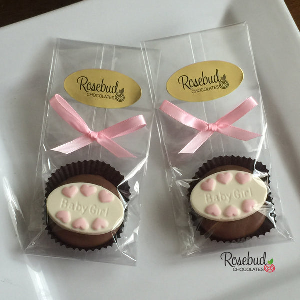 12 BABY GIRL Chocolate Covered Oreo Cookie Candy Party Favors
