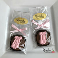 12 BALLET SLIPPERS Chocolate Covered Oreo Cookie Dance Candy Party Favors