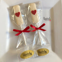 12 BAND-AID Chocolate Lollipop Candy Party Favors Heart