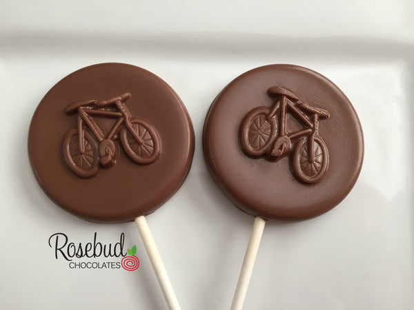 12 BICYCLE Chocolate Lollipop Candy Party Favors