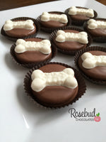 12 DOG BONE Chocolate Covered Oreo Cookie Favors