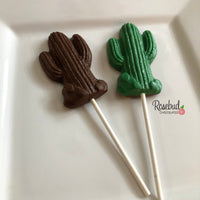 12 CACTUS Chocolate Lollipop Candy Party Favors Birthday Wedding