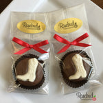 12 COWBOY BOOT Chocolate Covered Oreo Cookie Candy Party Favors