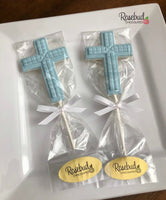 12 CROSS Cube Chocolate Lollipop Religious Candy Party Favors