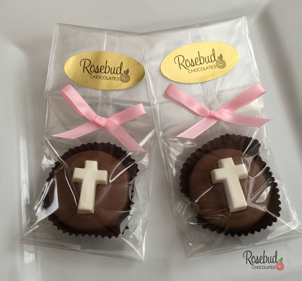 12 CROSS Chocolate Covered Oreo Cookie Religious Candy Party Favors