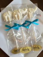 12 ELEPHANT Chocolate Lollipops Candy Birthday Party Baby Shower Favors