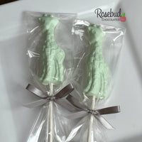 12 GIRAFFE Chocolate Lollipops Animal Birthday Party Favors