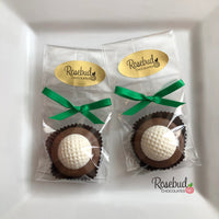 12 GOLF BALL Chocolate Covered Oreo Cookie Candy Party Favors