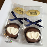 12 DOUBLE HEARTS Chocolate Covered Oreo Cookie Candy Party Favors
