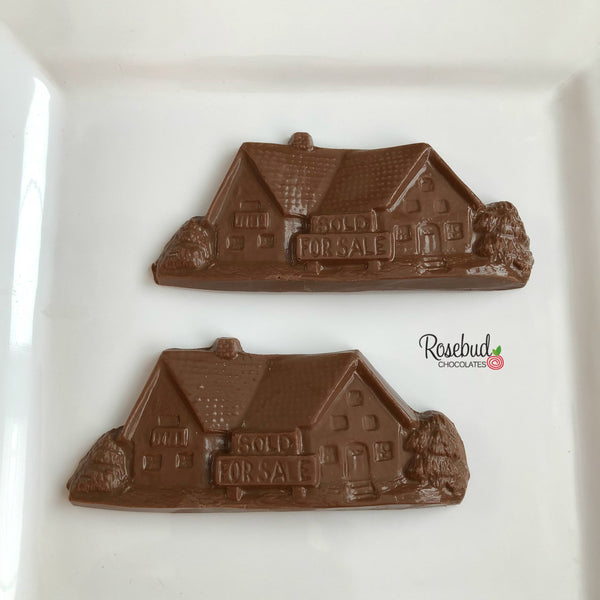 "12 HOUSE Chocolate ""Sold"" ""For Sale"" Candy Party Favors"