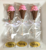 12 ICE CREAM CONE Chocolate Lollipops Candy Birthday Party Favors