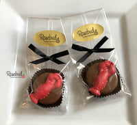 12 LOBSTER Chocolate Covered Oreo Cookie Candy Party Favors