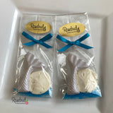 12 MERMAID TAIL & STARFISH or SAND DOLLAR Chocolate Party Favors Nautical Beach Theme