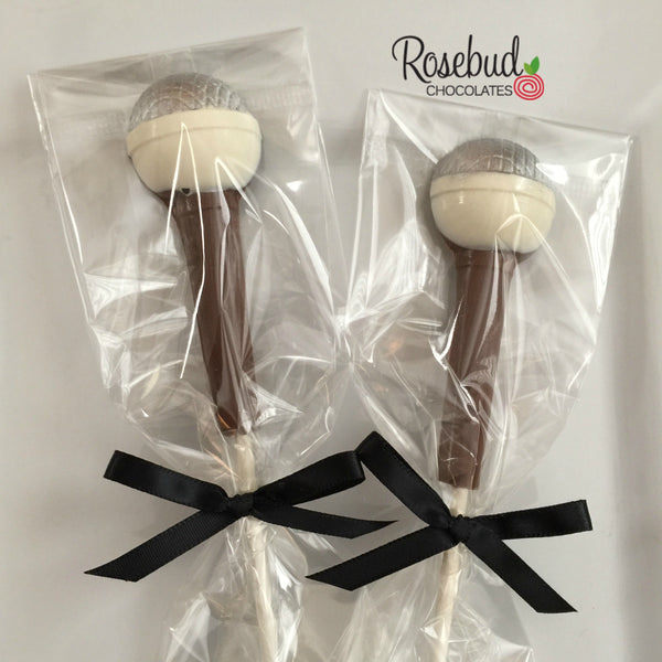12 MICROPHONE Chocolate Lollipops Candy Music Birthday Party Favors