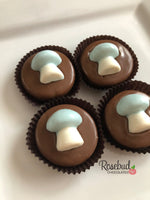 12 MUSHROOM Chocolate Covered Oreo Cookie Candy Party Favors