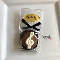 12 MUSIC NOTE Treble Clef Chocolate Covered Oreo Cookie Party Favors