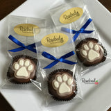 12 PAW PRINT Chocolate Covered Oreo Cookie Candy Party Favors