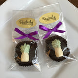 12 PINEAPPLE Chocolate Covered Oreo Cookie Candy Party Favors