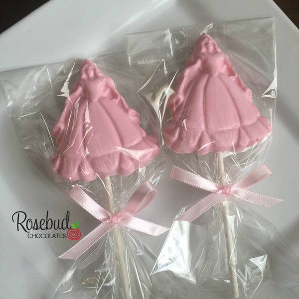 10 PRINCESS Chocolate Lollipop Candy Party Favors