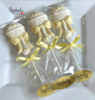 10 RATTLE Chocolate Lollipops BABY Shower Candy Party Favors