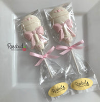 12 RATTLE Chocolate Lollipops BABY Shower Candy Party Favors