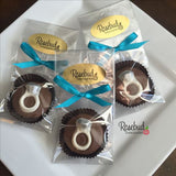 12 RING Chocolate Covered Oreo Cookie Wedding Bridal Shower Party Favors