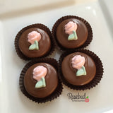 12 ROSE Chocolate Covered Oreo Cookie Candy Party Favors