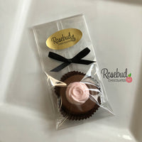 12 ROSEBUD Chocolate Covered Oreo Cookie Candy Party Favors