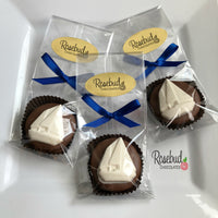 12 SAILBOAT Chocolate Covered Oreo Cookie Candy Party Favors