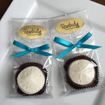 12 SAND DOLLAR Chocolate Covered Oreo Cookie Candy Party Favors