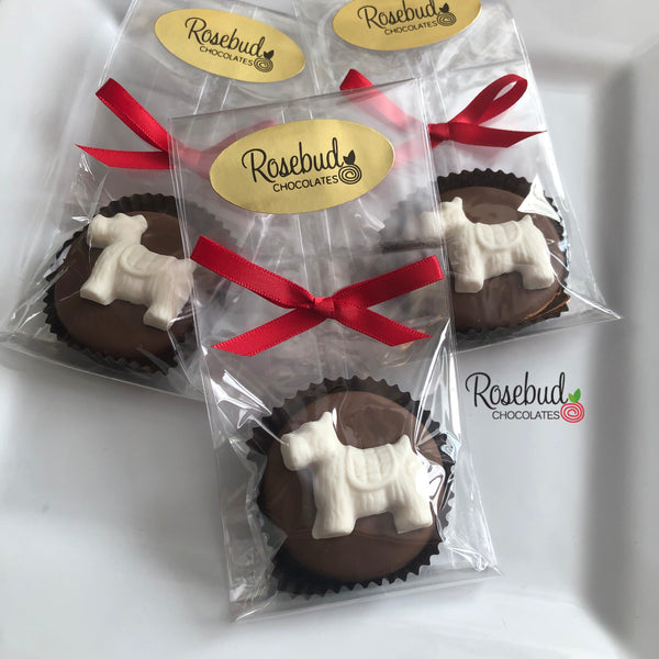 12 SCOTTISH TERRIER Dog Chocolate Covered Oreo Cookie Birthday Party Favors Scottie