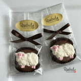 12 SHEEP Chocolate Covered Oreo Cookie Birthday Party Favors