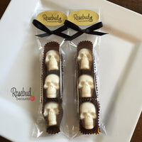 10 Packages of SKULLS Chocolate Halloween Candy Party Favors