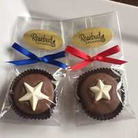12 STAR Chocolate Covered Oreo Cookie Candy Party Favors