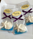 12 STARFISH & SAND DOLLAR Chocolate Candy Party Favors Nautical Beach Theme
