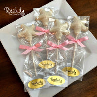12 STARFISH Chocolate Lollipops Candy Party Favors Nautical Beach Theme