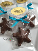 12 STARFISH Chocolate Candy Party Favors Nautical Beach Theme