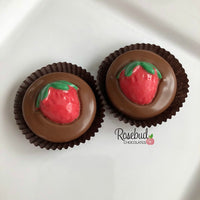 12 STRAWBERRY Chocolate Covered Oreo Cookie Candy Party Favors